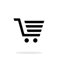 Shopping cart trolley simple icon on white vector image