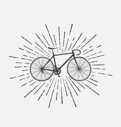 Sign of sports bicycle vector