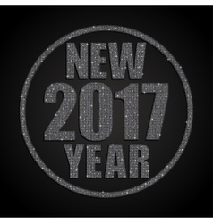 Silver Sequins New 2017 Year Star Circle vector