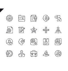 simple set head hunting line icons for website vector image