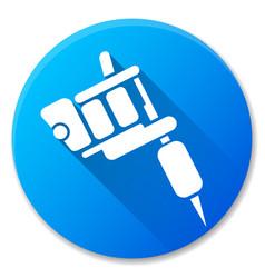 tattoo machine blue circle icon vector image