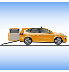 taxi or car for people on wheelchair vector image