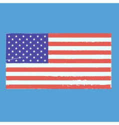 Vintage style flag of the United States of America vector image