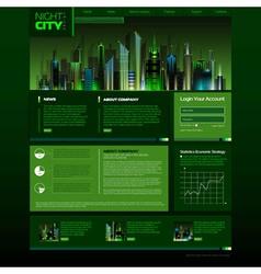 Web site design night city vector