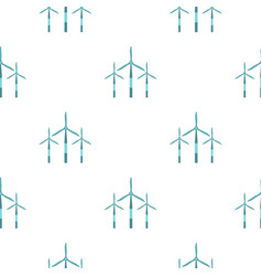 wind turbine pattern seamless vector image