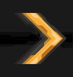 Yellow grey arrow futuristic on black banner vector