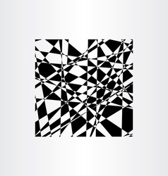 abstract background polygon black geometric vector image