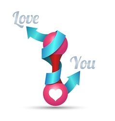Arrow love you For wedding and valentines day vector image