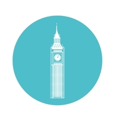 big ben building isolated icon vector image