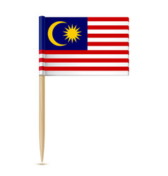 flag of malaysia toothpick vector image
