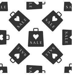 shopping bag shop love like heart icon seamless vector image vector image
