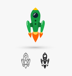 space rocket flying vector image