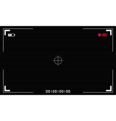 Viewfinder digital video camera vector