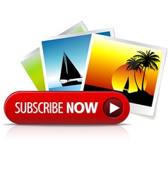 Big red subscribe now button vector image vector image