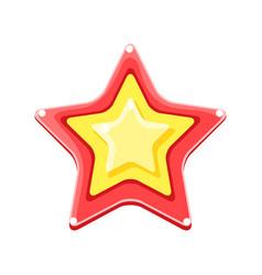 bright colored cartoon star vector image