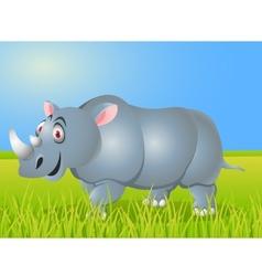 Rhino cartoon vector image vector image