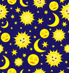 sun moon pattern vector image vector image