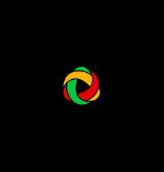 three color logo vector image vector image