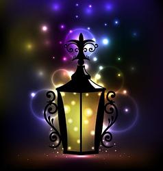 Arabic forging lantern for Ramadan Kareem vector image