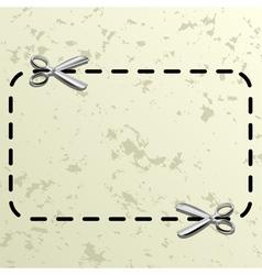 Coupon border vector image vector image