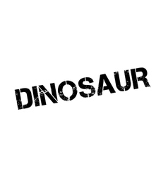 Dinosaur rubber stamp vector image