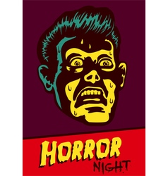 Halloween party horror movie night flyer design vector image vector image