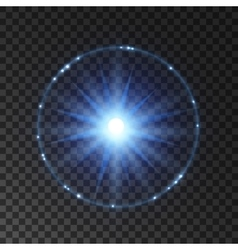 Light flash lens flare or star explosion vector image vector image