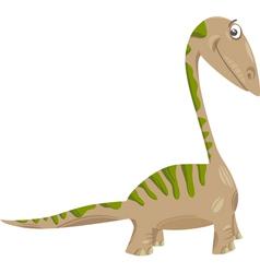apatosaurus dinosaur cartoon vector image vector image