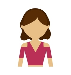 character woman hairstyle trendy vector image