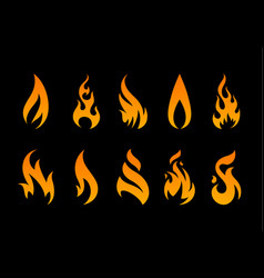 flame shapes vector image vector image