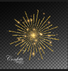 glowing explode of sparkling particles vector image