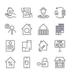 real estate building house construction vector image