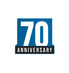70th anniversary icon birthday logo vector image