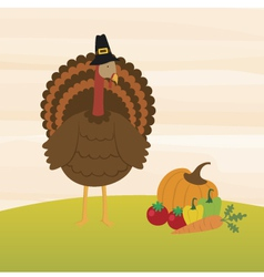 A Turkey and the Harvest vector image