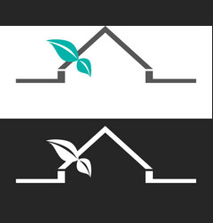 abstract house logo design template vector image
