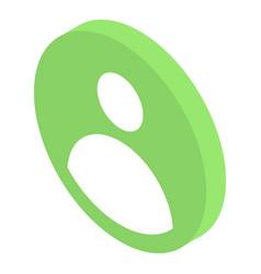 Account profile icon isometric style vector