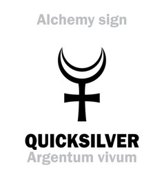 Alchemy quicksilver argentum vivum mercury vector