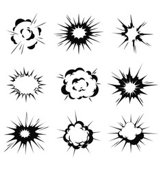 bang or explosion icons simple icons vector image
