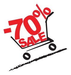 Big sale 70 percentage discount 2 vector image