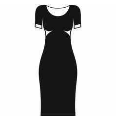 Black dress icon simple style vector