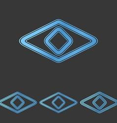 Blue line eye logo design set vector