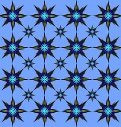 Blue star pattern vector image