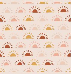 Boho sun seamless pattern summer baby print vector