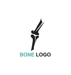bone logo template vector image