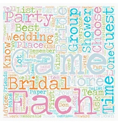 Bridal Showers match The Game To The Crowd text vector image