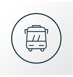 Bus icon line symbol premium quality isolated vector