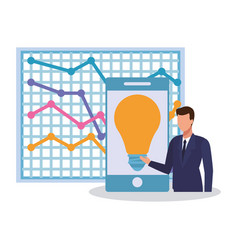 Businesman and technology vector