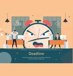 Business project deadline fail flat poster vector