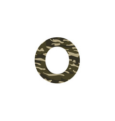 camouflage logo letter o vector image