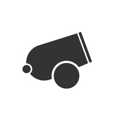 Cannon icon flat vector